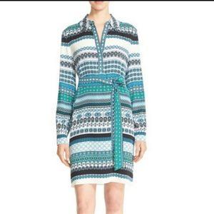 Diane von Furstenberg Seanna silk shirtdress blue